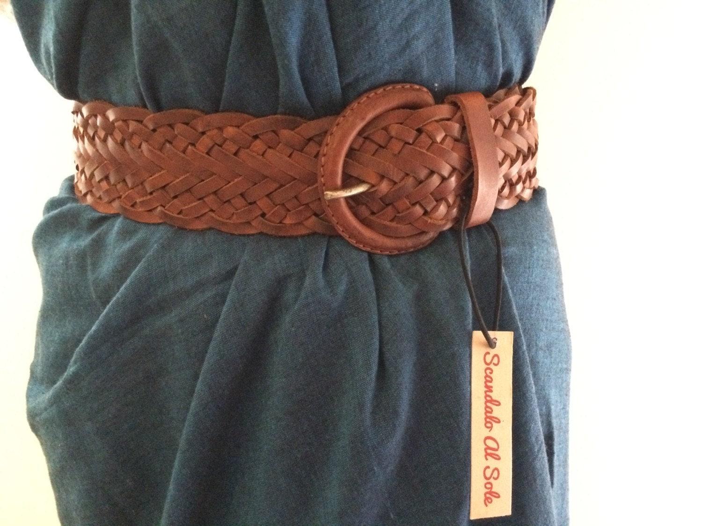 wide leather belt braided leather belt wide belt by