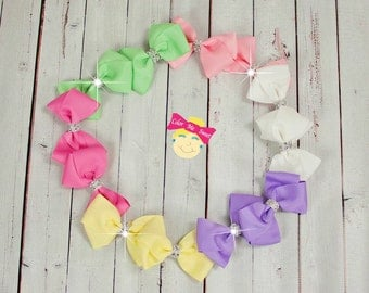 Boutique bows~bling hair bows~basic bows~simple bows~girly bows~everyday bows~spring bows~Easter bows~fancy bows