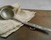 Vintage Norwegian pewter ladle Small Metal ladle Primitive spoon Farmhouse kitchen spoon