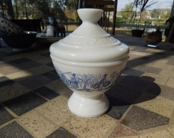 Vintage Milk Glass Candy Bowl, Made in Belgium, Small and Pretty