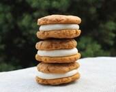 FALL FLAVOR - 6 Vegan Pumpkin Cookies Filled With Vanilla  Buttercream - 1/2 Dozen - High Hopes Vegan Bakery
