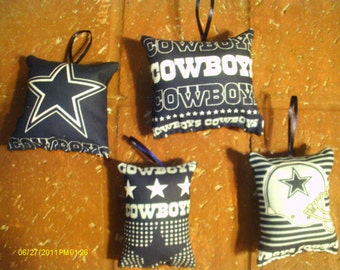 Dallas Cowboys Pillow Ornaments - Set of 4