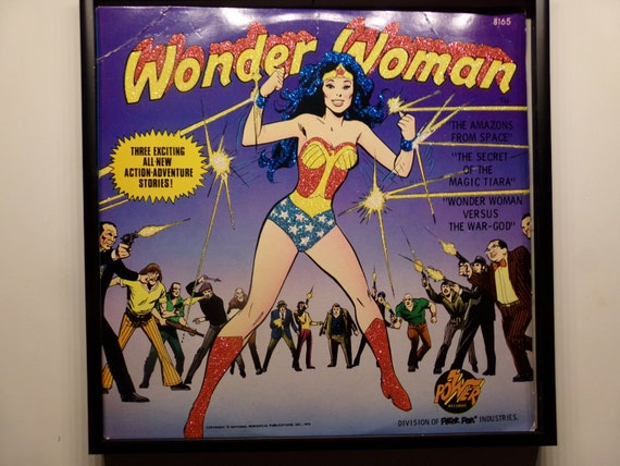 Glittered Record Album - Wonder Woman