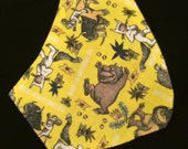 CUSTOM ORDER.  Where the Wild Things Are bandana bib, gender neutral, drool, dribble, spit-up, baby bib, reversible