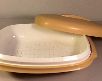 Vintage Gold Tupperware Steamer