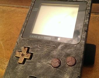 Custom Nintendo Gameboy pocket, Retro Gaming Steampunk Ed. antique metal .. fan art