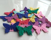 Plantable Butterfly medium Bright Seed Confetti 40 piece- Wildflowers grow, gift, jewelry tag, wedding