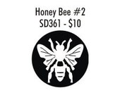 Stock Clay Stamp - Honey Bee Top view (SD361)