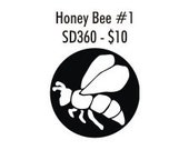 Stock Clay Stamp - Honey Bee (SD360)