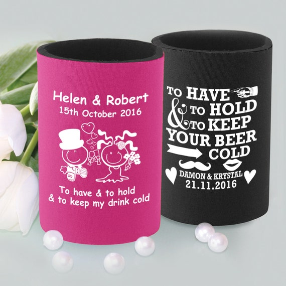 Wedding Gift Stubby Holders : 50 Printed Stubby Holders Coolers Wedding Favour Gift Bomboniere