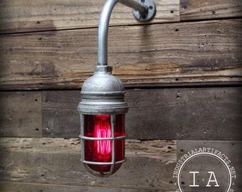 Vintage Industrial Appleton Explosion Proof Sconce Enclosure Light Lamp Cage Dome