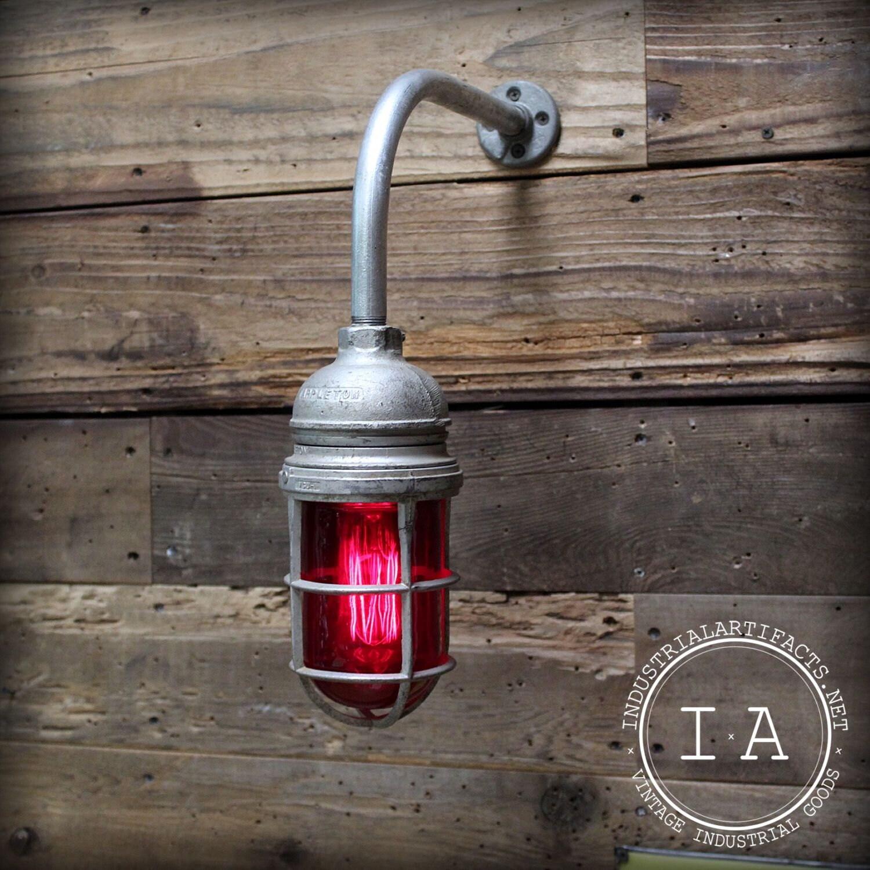 Appleton Light Vintage Industrial: Vintage Industrial Appleton Explosion Proof Sconce Enclosure