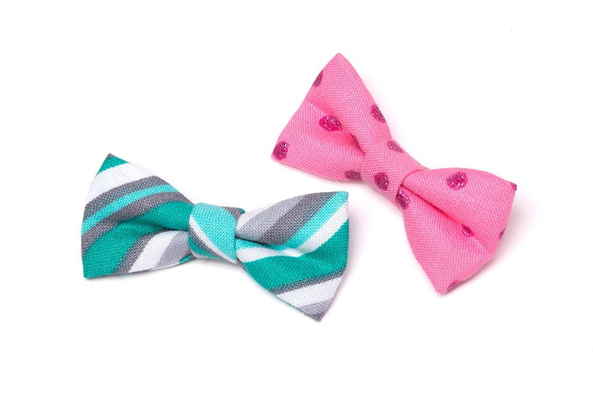 gender reveal bow tie mini 2 bow ties set of 10 by