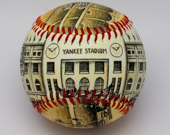 Yankee Stadium Opening Day Baseball, Artistic Baseball, Yankee Fan Gift, NY Baseball, NY Yankee Gift, Baseball fan(ODS01)