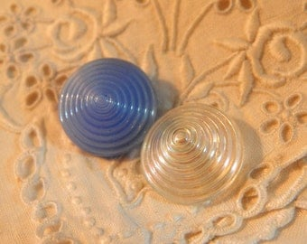 Cone Shaped Glass Buttons - 2
