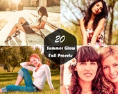 20 Summer Glow Fall Lightroom Presets Photography Editing Retouching