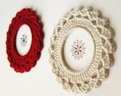 Crochet Picture Frame with Fan Edge - Crochet PDF Pattern by JaKiGu