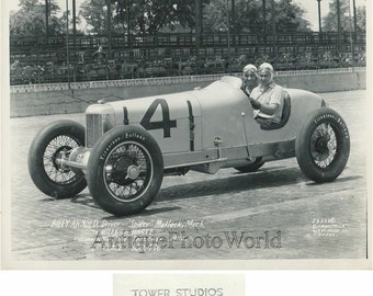 Billy Arnold race car driver in automobile antique sport photo