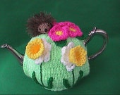 Hand Knit Spring Flower Tea Cosy
