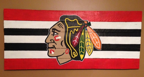 Chicago Blackhawks Wooden Wall Decor Sign