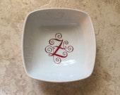 """Ring Dish, 3.5"""", White, Custom Monogramed Porcelain"""