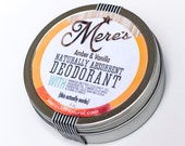 For Nut Sensitivities - Amber &Vanilla - Naturally Absorbent Deodorant - Made with Mango Butter and Avocado Oil