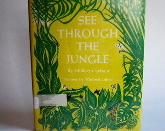 Vintage Children's Book, See Through the Jungle