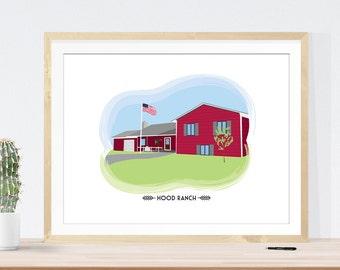 Custom House Portrait for Housewarming Gift Home Illustration Custom Art