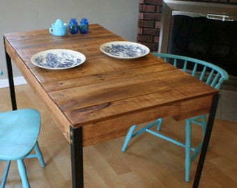 Rustic Reclaimed Wood Table With Industrial Iron Legs Made To Order/Custom  Order