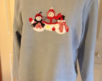 Ugly Christmas Sweater Fleece Size Large by Natural Reflections