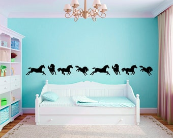 Horse Border Vinyl Wall Decal Graphics Girls Boys Baby Nursery Bedroom Home Decor