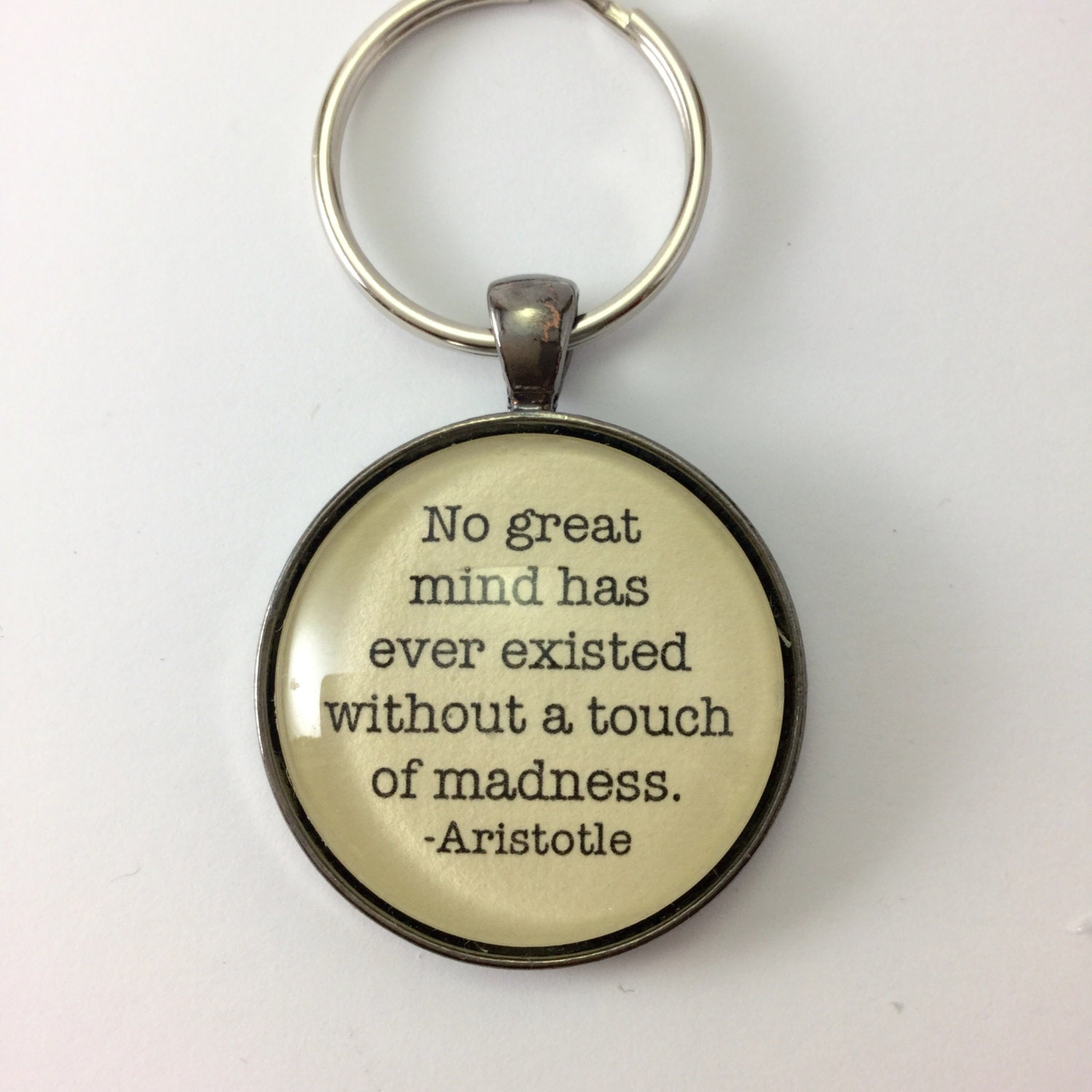 Keychains Lanyards Lightupcircuitboardkeychain Aristotle Quote Inspirational Keychain For Student Reader Pendant Jewelry