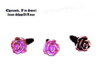 Frosted Rose Embellished 4mm Dust Plug For IPHONE - IPODS - SMARTPHONES - New Item