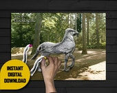DIY Printable Pin the Tail on Buckbeak Harry Potter  - Instant Digital Download