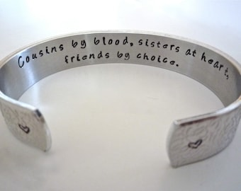 Wedding Gift Ideas For Male Cousin : Cousin Gift, Cousin Bracelet- Personalized BraceletSister Bracelet ...
