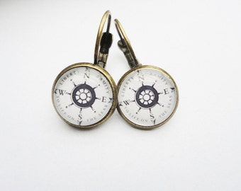 Earrings Compass
