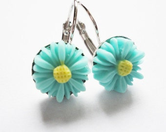Earrings mint Flower