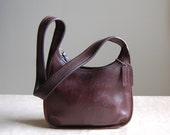 vintage small Coach purse / chestnut brown leather shoulder purse