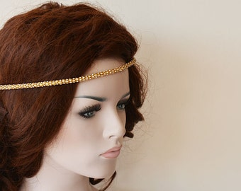 Bridal Hair Accessories, Gold Rhinestone Headband, Wedding Hair Accessories, Wedding Headband