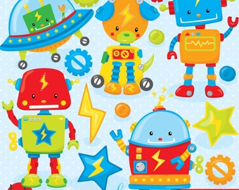 Toy robot clipart commercial use, vector graphics, digital clip art, digital images  - CL801