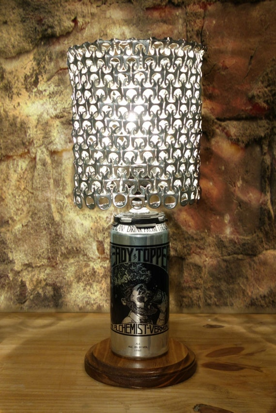 Heady Topper Beer Can Lamp With Pull Tab Lamp Shade The