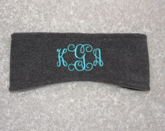 Monogram Fleece Headband, Ear Warmers,  Monogram  Headband - Ear Warmers - Ski Band - Ear Muff Custom made,  Best price