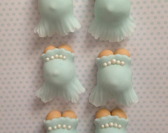 Pregnant Belly Fondant Toppers