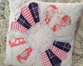 Shabby Chic Vintage Cutter Quilt Pillow