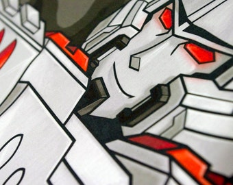 Megatron Body Pillow Case from Transformers G1 IDW MTMTE Lost Light