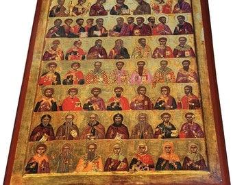 Great Deesis - Orthodox Byzantine icon on wood (30cm x 22.2cm)