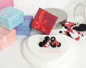 Mickey and Minnie Mouse Stud Earrings //  Minnie Mouse Earrings // Mickey Mouse Earrings// Nickel Free Earrings // Disney Earrings