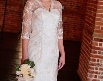 Stunning Vintage lace wedding dress Art Deco Grace Kelly / Kate Middleton vintage lace wedding dress