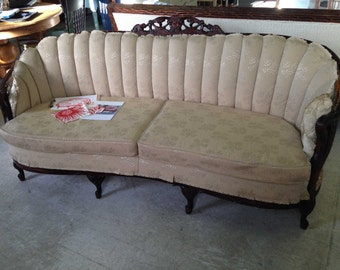1940's Victorian Couch Frame w/choice of sustainable local fabric