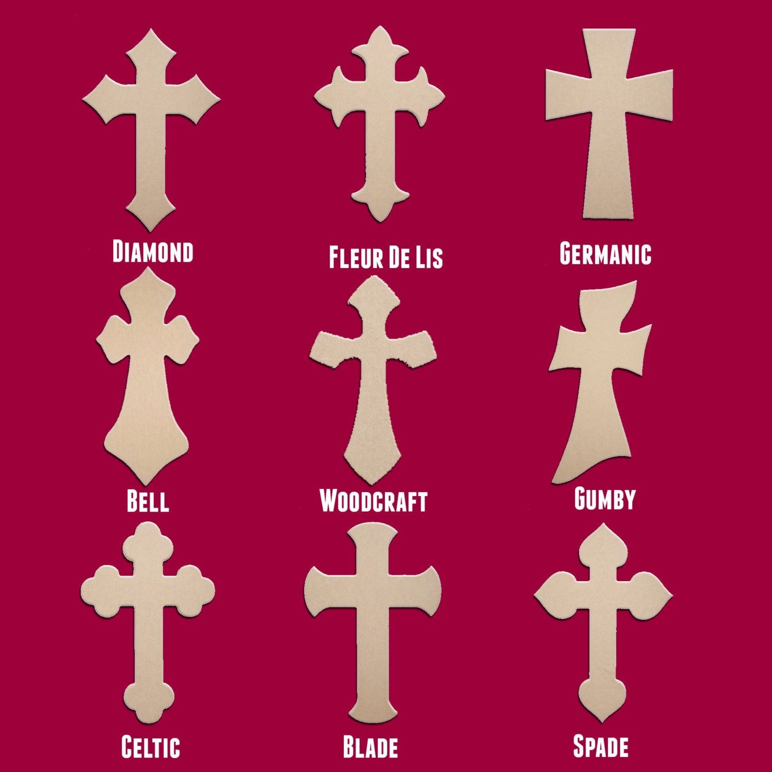 Unfinished wooden crosses for crafts -  10 00